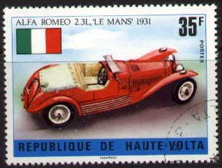 Old Car, Alfa Romeo Le Mans, 1931, Burkina Faso stamp SC#364 used
