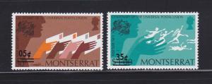 Montserrat 315, 318 MNH UPU (A)