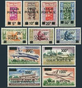 Dahomey Q1-Q7,CQ1-CQ4,MNH.Mi Pk1-Pk11. Parcel Post stamps 1967.COLIS POSTAUX.