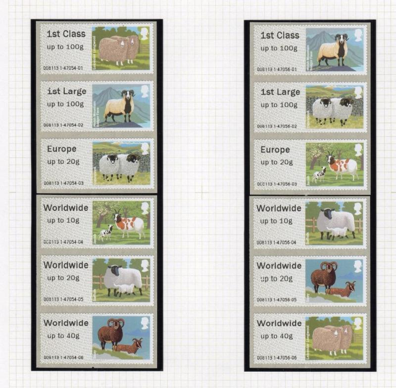 SPECIALISED COLLECTION OF POST & GO LABELS ON THREE PAGES