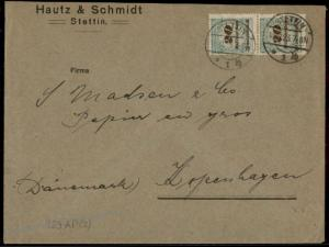Germany 1923 November Inflation Cover Denmark 20 Billion Mark Stamps 73322