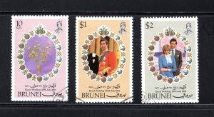 Brunei, Scott 268-270   VF,  Used, CV $4.50 .....0980090