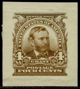#303P2 XF-SUPERB GRANT SMALL DIE ON WHITE WOVE PAPER BQ2872