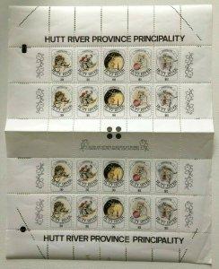 MCR6) Hutt River Province 1986 Christmas Sheet MUH