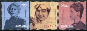 Romania People Stamps 2021 MNH Famous Women Alice Voinescu Aviation 3v Set