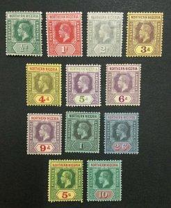 MOMEN: NORTHERN NIGERIA SG #40-51 1912 MINT OG H LOT #194725-3209