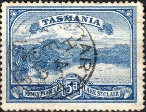 AUSTRALIA / TASMANIA - 1905  HOBART  CDS on SG235 5d bright blue
