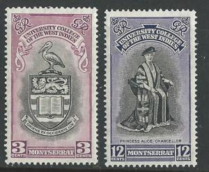 Montserrat # 112-13 College of West Indies   (2) Unused