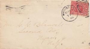 United States New Jersey Madison 1909 numeral duplex  2c Alaska Yukon with Re...