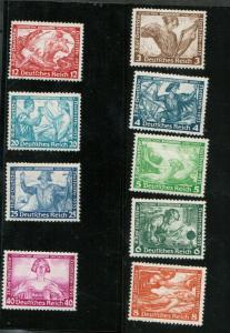 Germany #B49 - #B57 Mint Fine - Very Fine Never Hinged Set