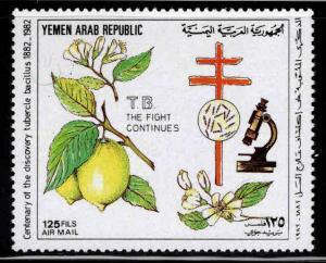 Yemen Scott C115 MNH** 1982 TB stamp
