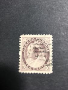 Canada Scott #83 Used F+ 2017 Cat. $25. 1898 10c Numeral