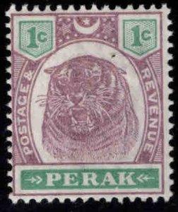 MALAYA Perak Scott 47 MH* Tiger stamp