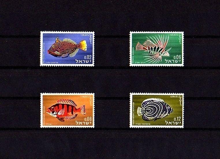 ISRAEL - 1963 - FISH - RED SEA - TRIGGER - ANGEL ++ MINT - MNH SET OF 4!