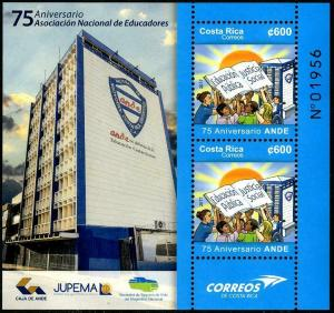 HERRICKSTAMP NEW ISSUES COSTA RICA ANDE 75th Anniversary S/S