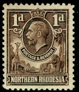 NORTHERN RHODESIA SG2, 1d brown, M MINT.