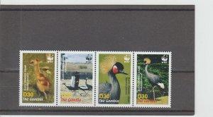 Gambia  Scott#  3014  MNH Strip of 4  (2006 Black-Crowned Crane)