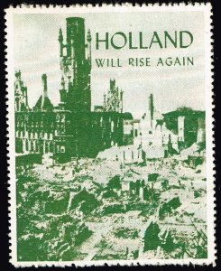 Netherlands STAMP PATRIOTIC  LABEL STAMP WILL RISE AGAIN