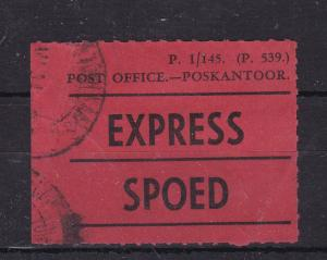 South Africa Express/Spoed Sticker P.1/145(P.539) Used VGC