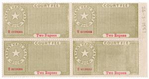 (I.B) India (Princely States) Revenue : Savant Vadi Court Fee 2R