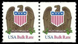 PCBstamps   US #2604 Coil Pair 20c(2x10c)Eagle, bulk rate, MNH, (13)