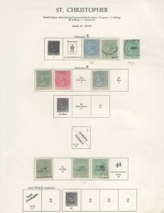 St. Christopher Stamps 1870-1890 Approx. CV. $400 (JH 9/22) GP