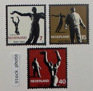 Netherlands 432-34. 1965 Resistance, NH