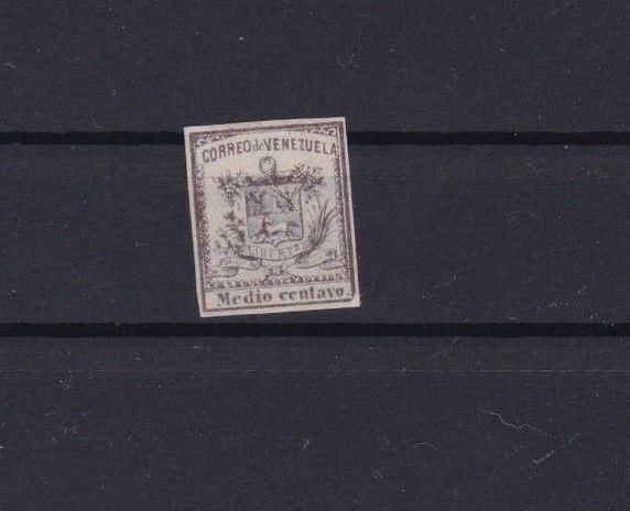 VENEZUELA 1862 IMPERF STAMP ½ CENTAVO MOUNTED MINT  CAT £31  REF 6296