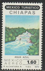 MEXICO C615, Touristic sites, AGUA AZUL WATERFALLS. MINT, NH. F-VF.