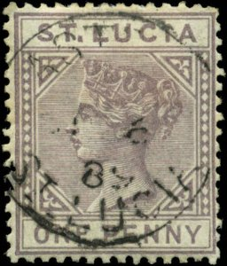 St. Lucia Scott #29a SG #39 Used  Die A