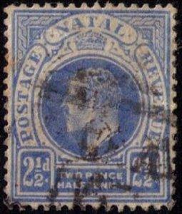Natal - Sc 85.  2 1/2p Edward VII Used (1882):