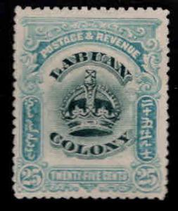 Labuan Scott 107 MH* Crown stamp CV$12