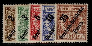 GERMAN EAST AFRICA , 1896 OPTD set, M MINT.
