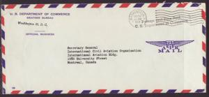 Waether Bureau to Montreal,QC,Canada  1958 # 10 Size Cover