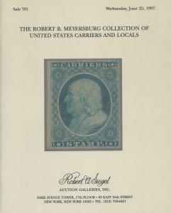 Meyersburg, U.S. Carriers & Locals, R.A. Siegel, Sale 791 Catalog, June 25, 1997