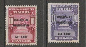 Costa Rica College revenue fiscal cinderella stamp scarce seldom seen 6-15-21