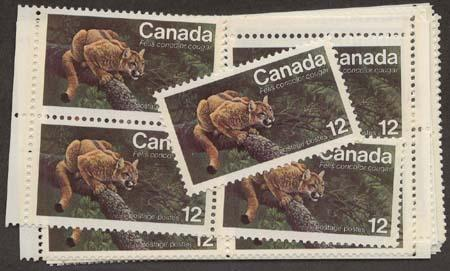 Canada - 1977 Endangered Wildlife Cougar X 40 mint #732