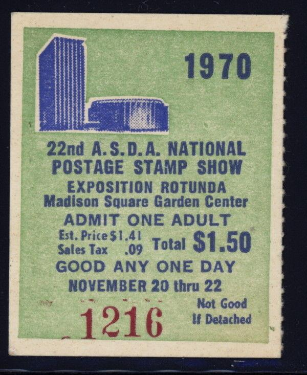US 1970 ASDA ticket stub with red #1216