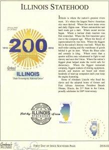Goodman's Art Cachet 5274 Illinois Statehood Souvenir Page Springfield Illinois