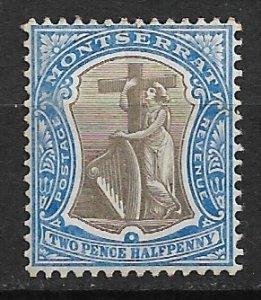 1905 Montserrat 25 Symbol of the Colony 2½p MH
