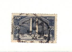 France, 312, Canadian War Memorial,Single, Used