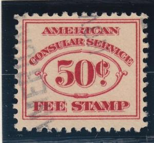 RK15 VF used consular revenue stamp with nice color cv $ 225 ! see pic !