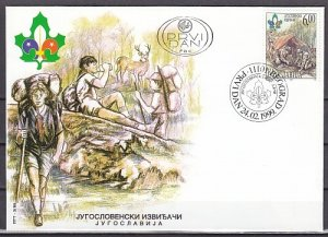 Yugoslavia, Scott cat. 2436. Scouts of Yugoslavia issue. First day cover. ^