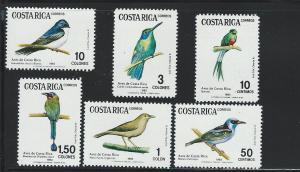 COSTA RICA  # 287 - 92     MNH
