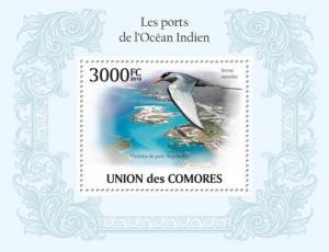COMORES 2010 SHEET PORTS INDIAN OCEAN WATER BIRDS OISEAUX cm10111b