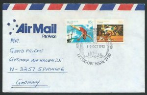 AUSTRALIA 1992 cover to Germany - nice franking - Sydney Pictorial pmk.....12858