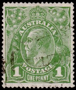 Australia Scott 67b, Perf. 14, Green (1926) Used F-VF M