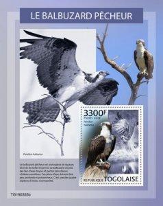 TOGO - 2019 - Osprey - Perf Souv Sheet - MNH