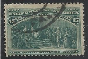 238 Used 15c Columbian Fine Centering