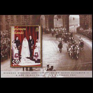 SOLOMON IS. 2007 - Scott# 1094 S/S Royal Wedding NH